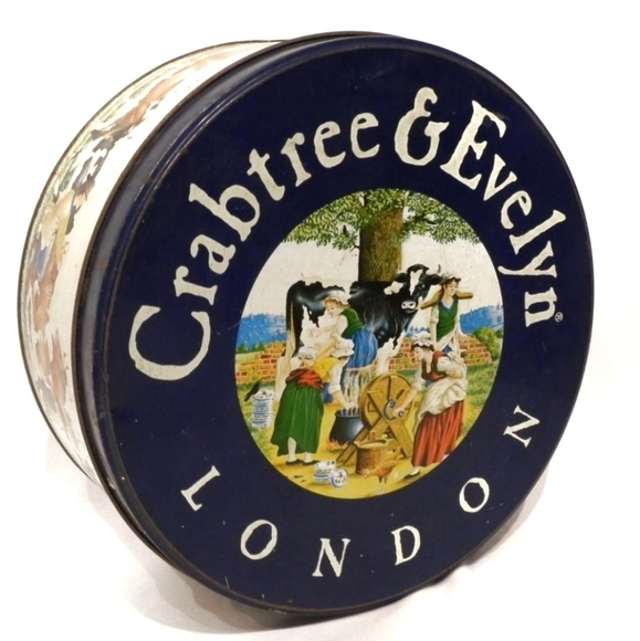 Vintage Crabtree & Evelyn Cow Tin Box